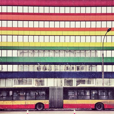 Lines in Warsaw by cimek