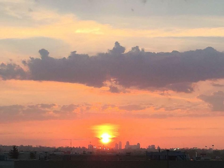 Early morning sun rise