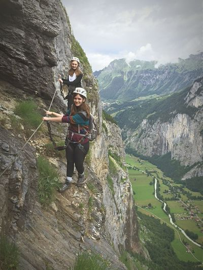 Via Feratta Outdoors Mountain Climbing Mountains Via Ferrata That's Me Hanging Out Exploring Enjoying Life Switzerland Adventures