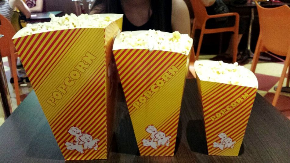 Close-up Indoors  Popcorn😍 Unhealthy Eating Movies Tonight With Friend <3