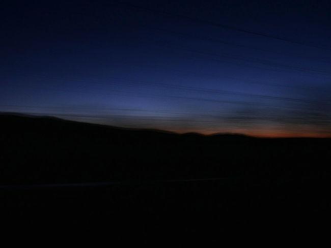 Atmosphere Car Photography Desert Horizon Over Land Landscape Scenics Silhouette Skyline At Night Sunset Tranquility