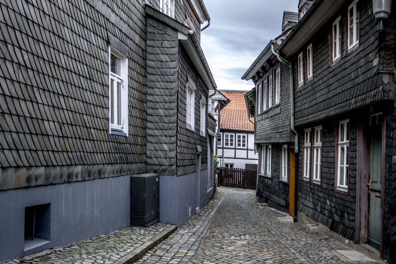 Alley Architecture Building Exterior Built Structure City Cobblestone Day Footpath Germany Goslar Goslar Germany Long Narrow No People Old Town Outdoors Residential Building Residential Structure Sky The Way Forward Tourism Walkway