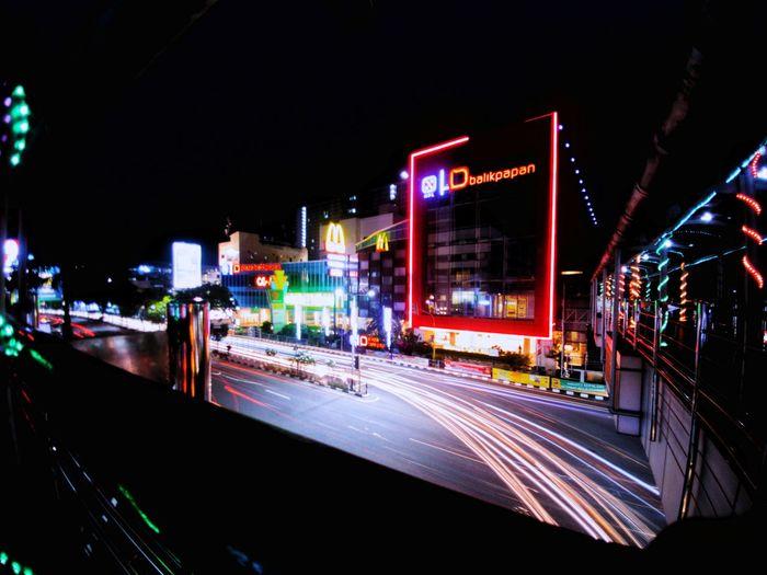 light Trail Longexposure Night Nightphotography Long Exposure Longexposurephotography Ilumination Balikpapan City INDONESIA
