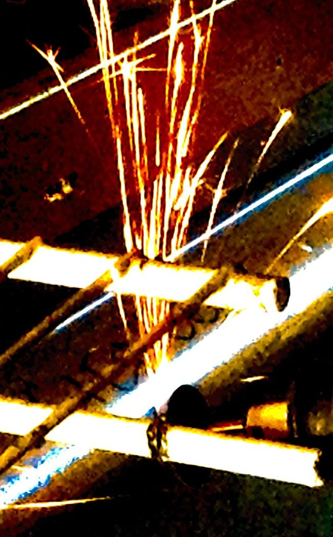 Beautiful Light Beautiful Lights Dremel High Angle View Metal Project Sparks Sparks Flying