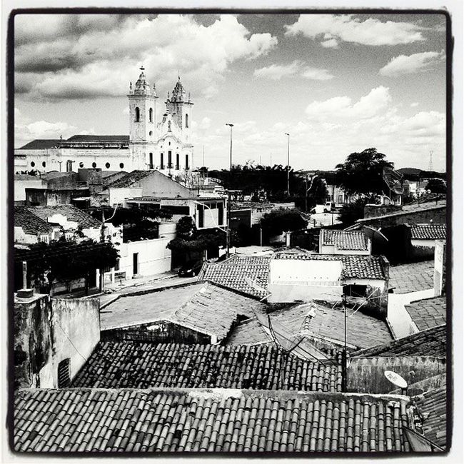 Church Buildings My Town Brazil Learn & Shoot: Layering Town Sobralcity Black And White