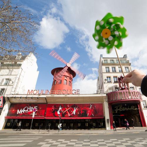 Communication Souffle Wind Windmill Pinwheel Moulin à Vent Moulin Rouge