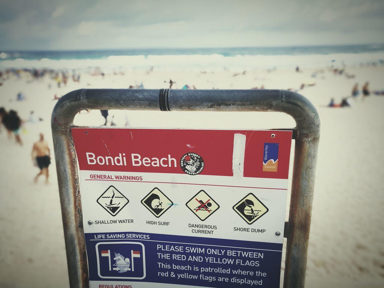 Bondi beach Sydney Sea Beach Water Close-up Outdoors Vacations Sky Sand