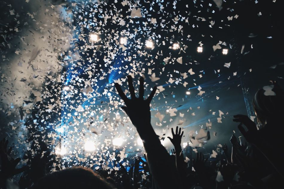Beautiful stock photos of party, Arts Culture And Entertainment, Audience, Carefree, Confetti