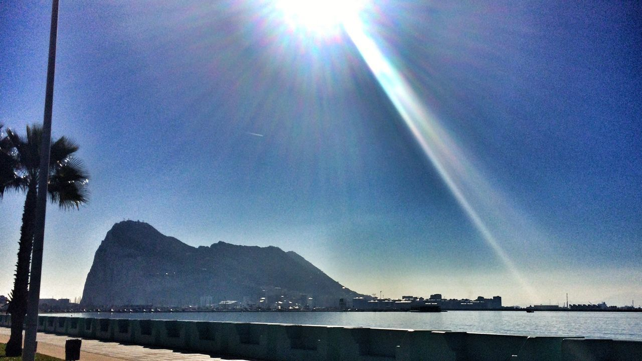 The City Light Nature Sunbeam Scenics Sea The Rock Of Gibraltar