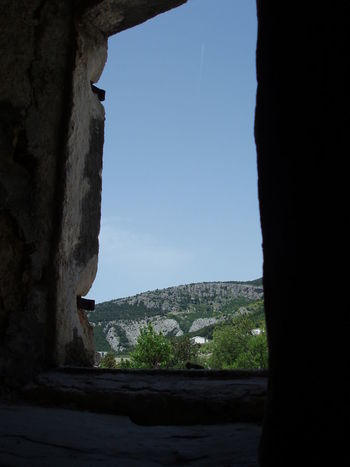 View From The Window... Sunshine Stone House Mountain Blue Sky Window Old Stone Houses Stone Buildings Stone Cottage Mountain Village Traditional House Croatia