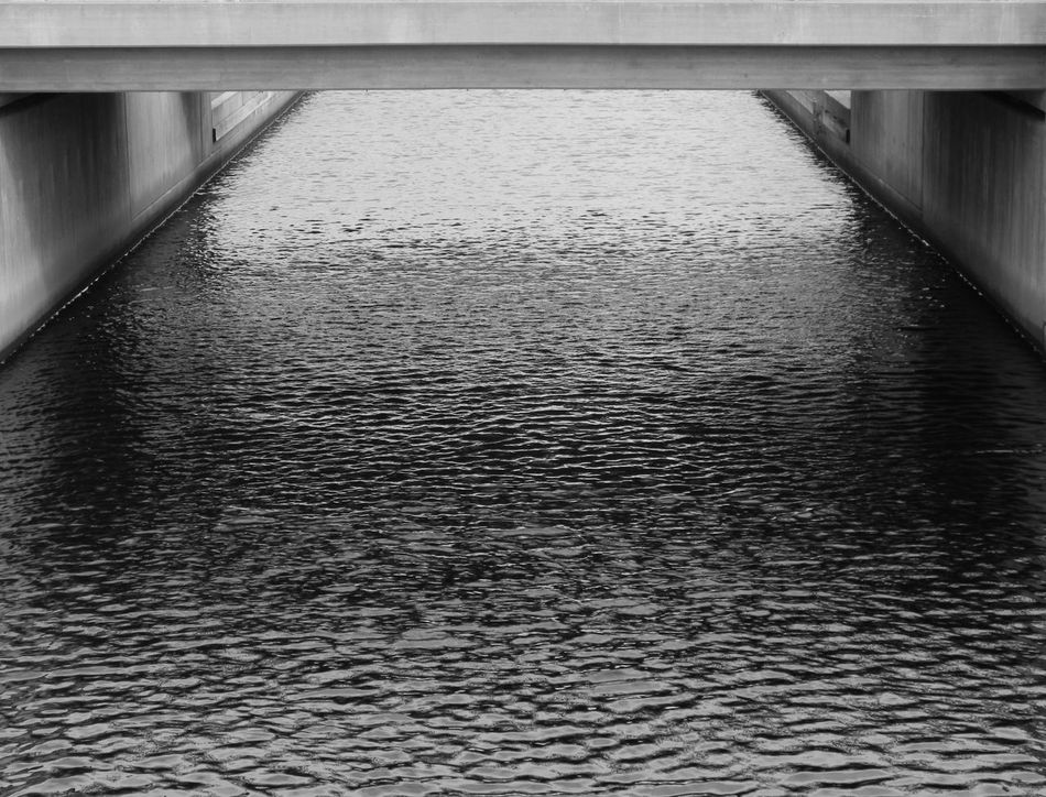 No People Water Architecture Day Built Structure Blackandwhite Blackandwhite Photography Black And White Black & White Under The Bridge Bridge Canal Urban Urban Exploration Residential District City