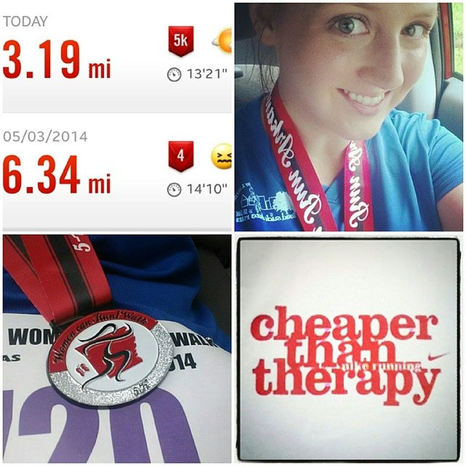 Improved my average pace by almost a minute... getting better! :) we'll shoot for 12 next weekend! I hate running... It's hard work... But the rewards outweigh the difficulties. Wra5k Womenrunarkansas 5k