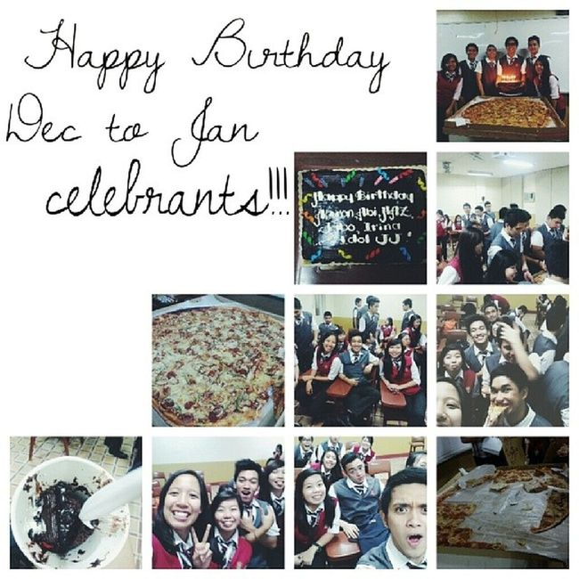 Happy birthday again to those celebrants! :) Thanksss sa nakakabusog na treat last night! Sayaaaaa. Best block plus prof everrrr. 3AOM
