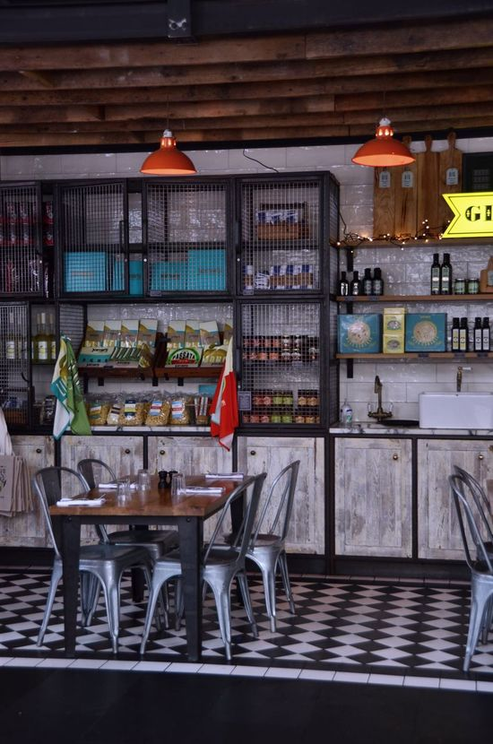 Lucky to have gotten this shot in an absolutely packed Jamie's restaurant in Stratford Jamie's Italian  Restaurant Decor