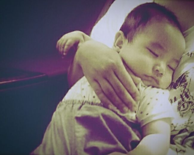 Innocence Baby Boy Sleeping Baby  Nephew  Mother And Child Mother's Lap Peaceful Moment