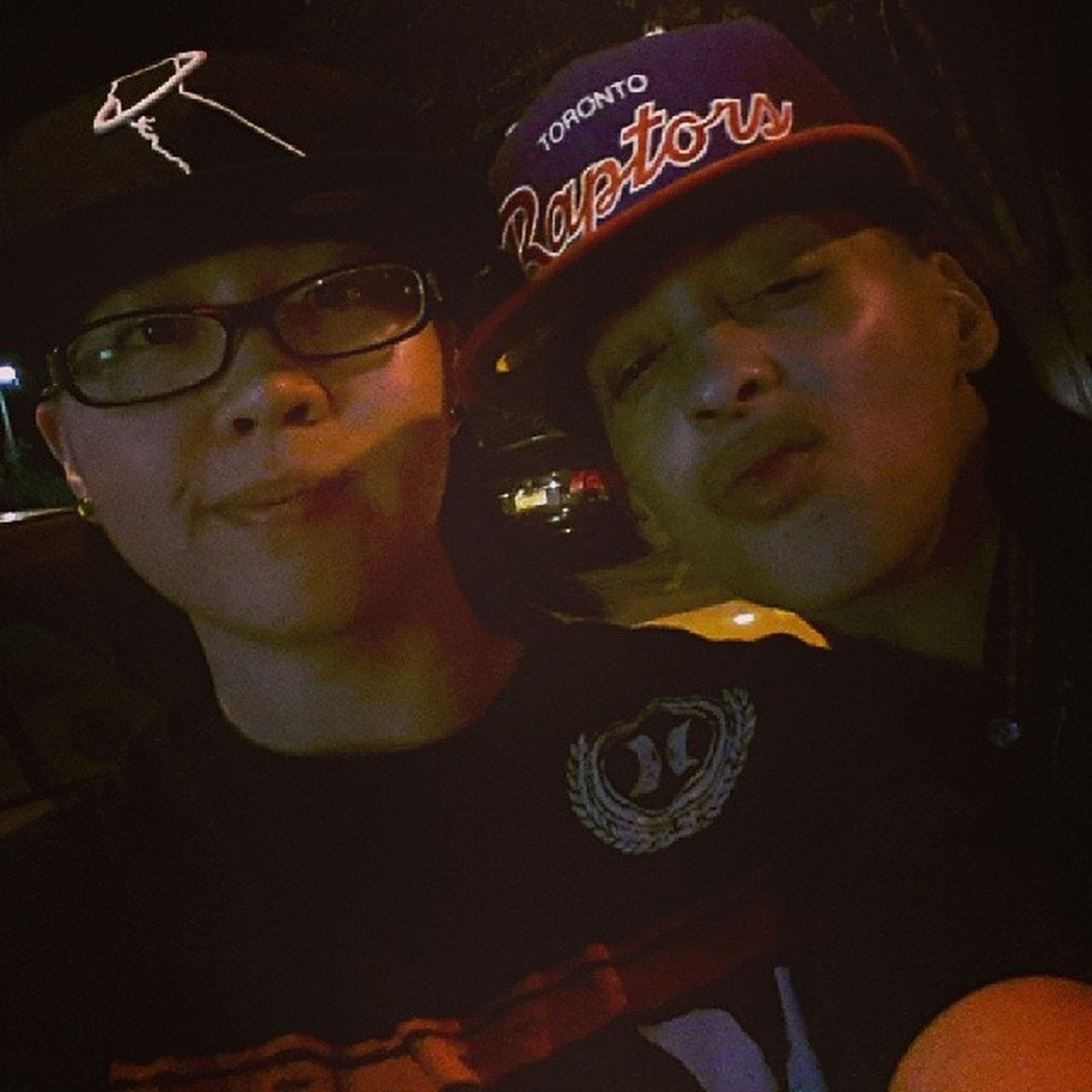 Me and the bro last night at 340 in downtown Pomona. Turn up was real crazy lol. Her J's got stepped on bunch of times lmao too packed up in there.. IWasDesignatedDriver FooHadTooMuch lol