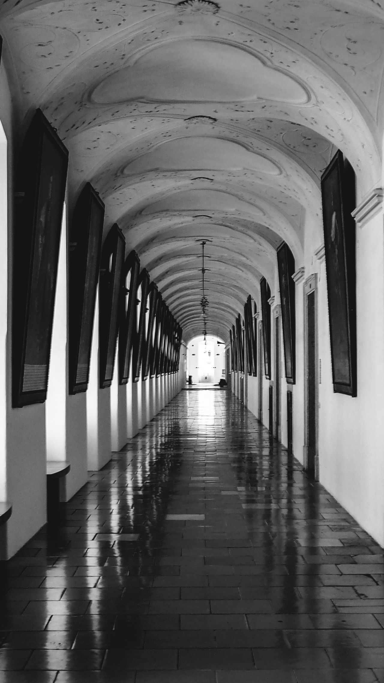 Arcade Arch Arched Architectural Column Architecture Archway Black & White Black And White Bradley Olson Bradleywarren Photography Built Structure Ceiling Colonnade Column Corridor Day Diminishing Perspective Flooring In A Row Indoors  Long Monochrome Narrow Passage Vanishing Point