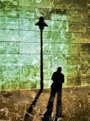 shadows in Gijón by Fer