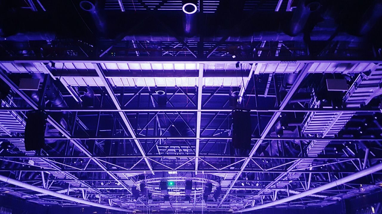 Distracted by detail Stadium Sport Architecture No People Technology Illuminated Indoors  Pattern O2 O2 Arena Arena Ceiling Roof Venue
