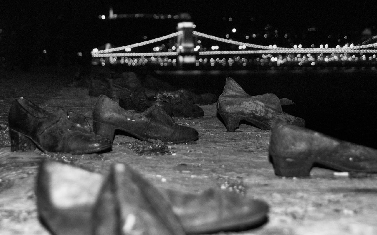 Budapest, Hungary Danube Danube In Budapest Live For The Story Night Lights Nightphotography No People Outdoors Shoe Memorial