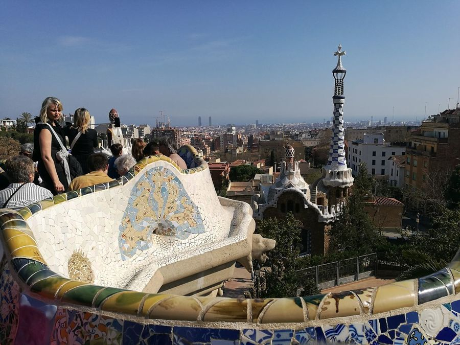 Outdoors City Travel Destinations HuaweiP9 Guell Monumental Zone Barcelona Guell Park Gaudi Park Art EyeEmNewHere Architecture Built Structure View SPAIN Art Is Everywhere The Architect - 2017 EyeEm Awards The Great Outdoors - 2017 EyeEm Awards Your Ticket To Europe