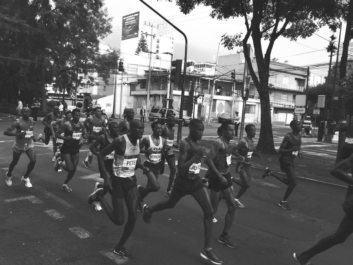 Marathonists. Mexico City Marathon 30,000 Runners Love To Run