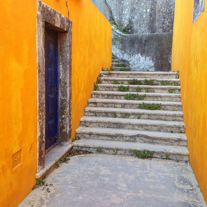 Door Stairs Orange Portugal Sintra Cascais Igportugal Iphoneonly Photogeekdom Nofilter Latergram