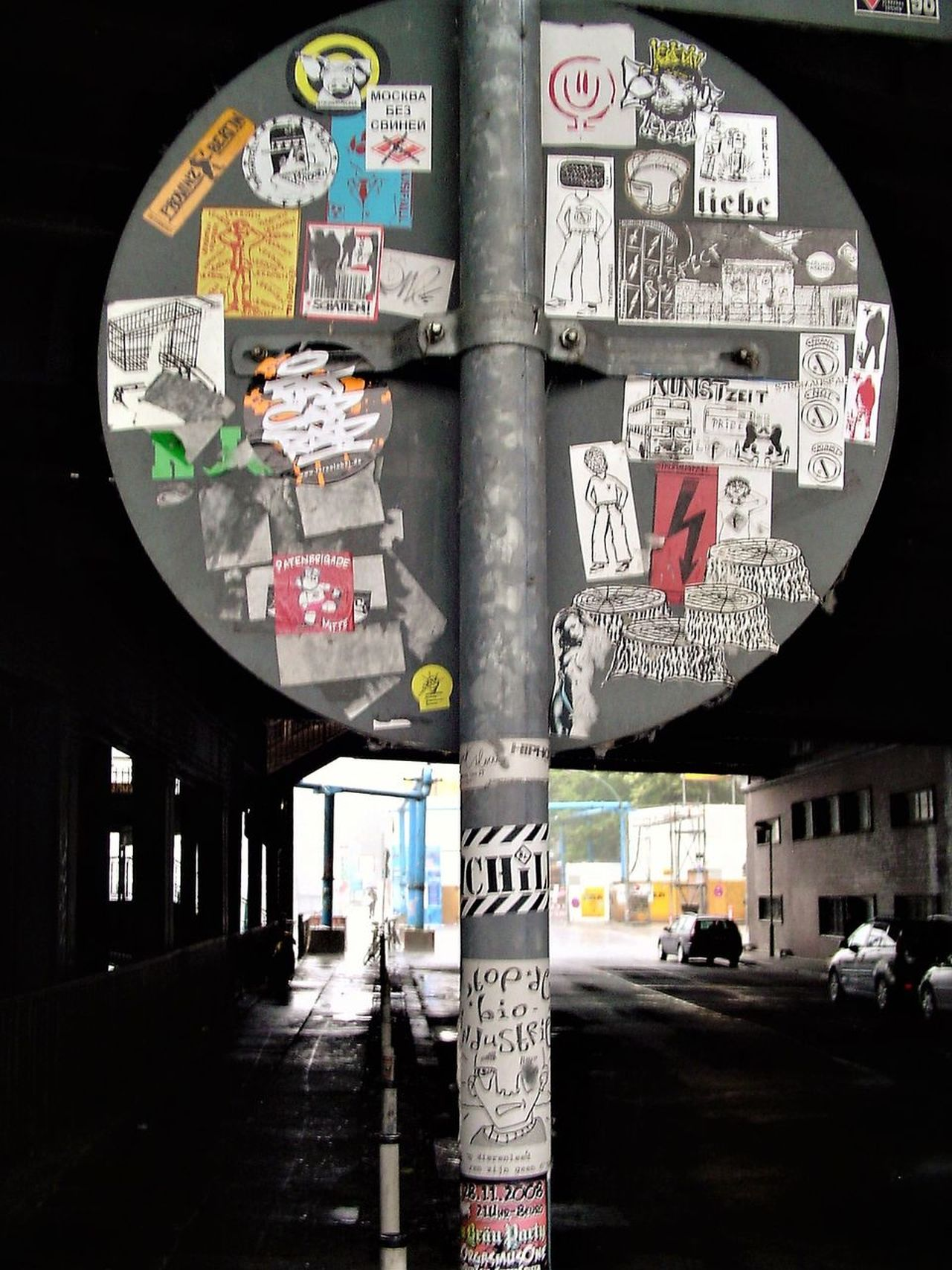 Architecture Capture Berlin City Communication Day Exit Sign No People Outdoors Road Sign Stickers Streetphotography Text Transportation Travel Destinations Tunnel