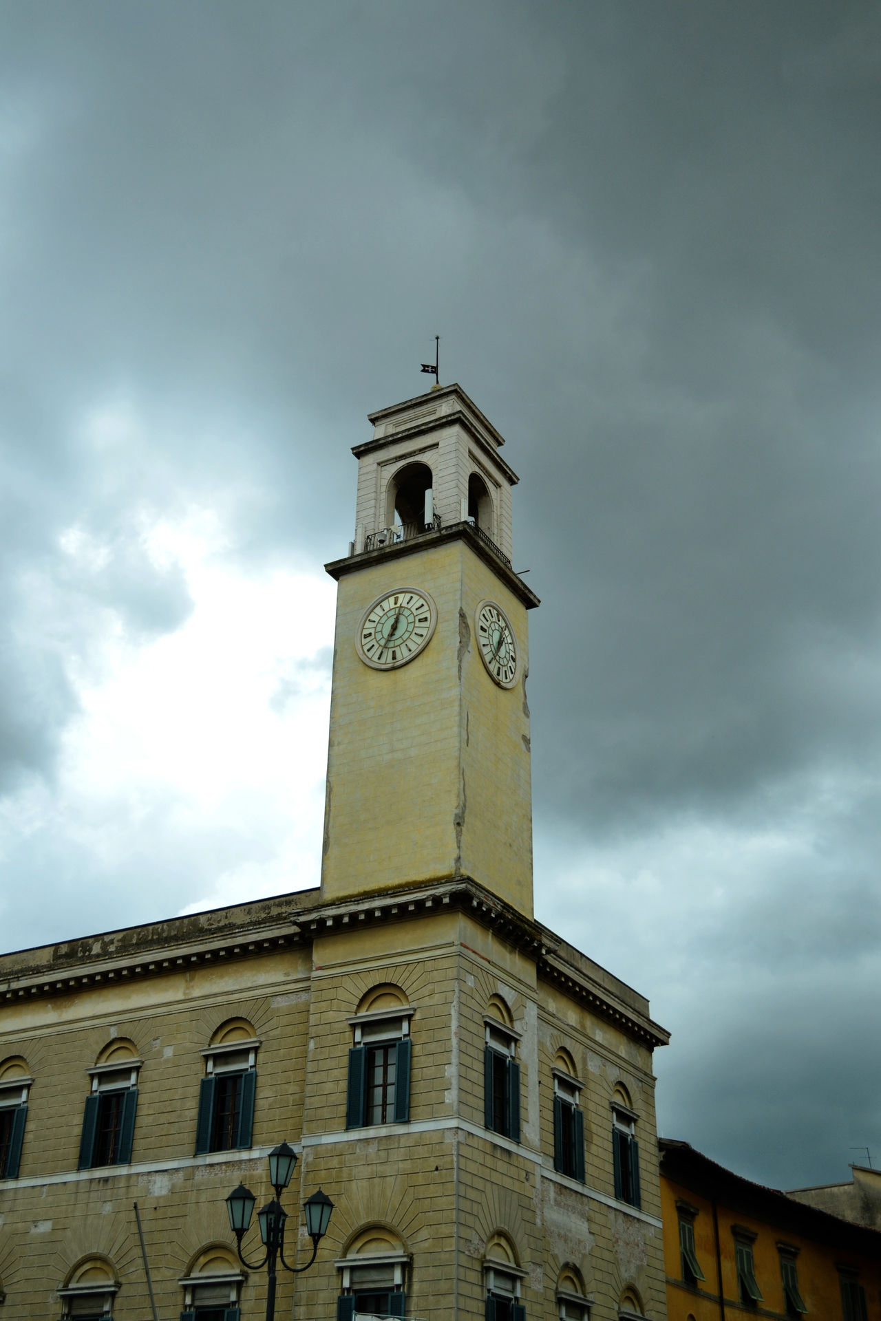 Architecture Clock Tower Clouds And Sky Culture Everyday Life Exploring Tuscany Historic Low Angle View Outdoors Storm Tower Tuscany Greetings From Italy