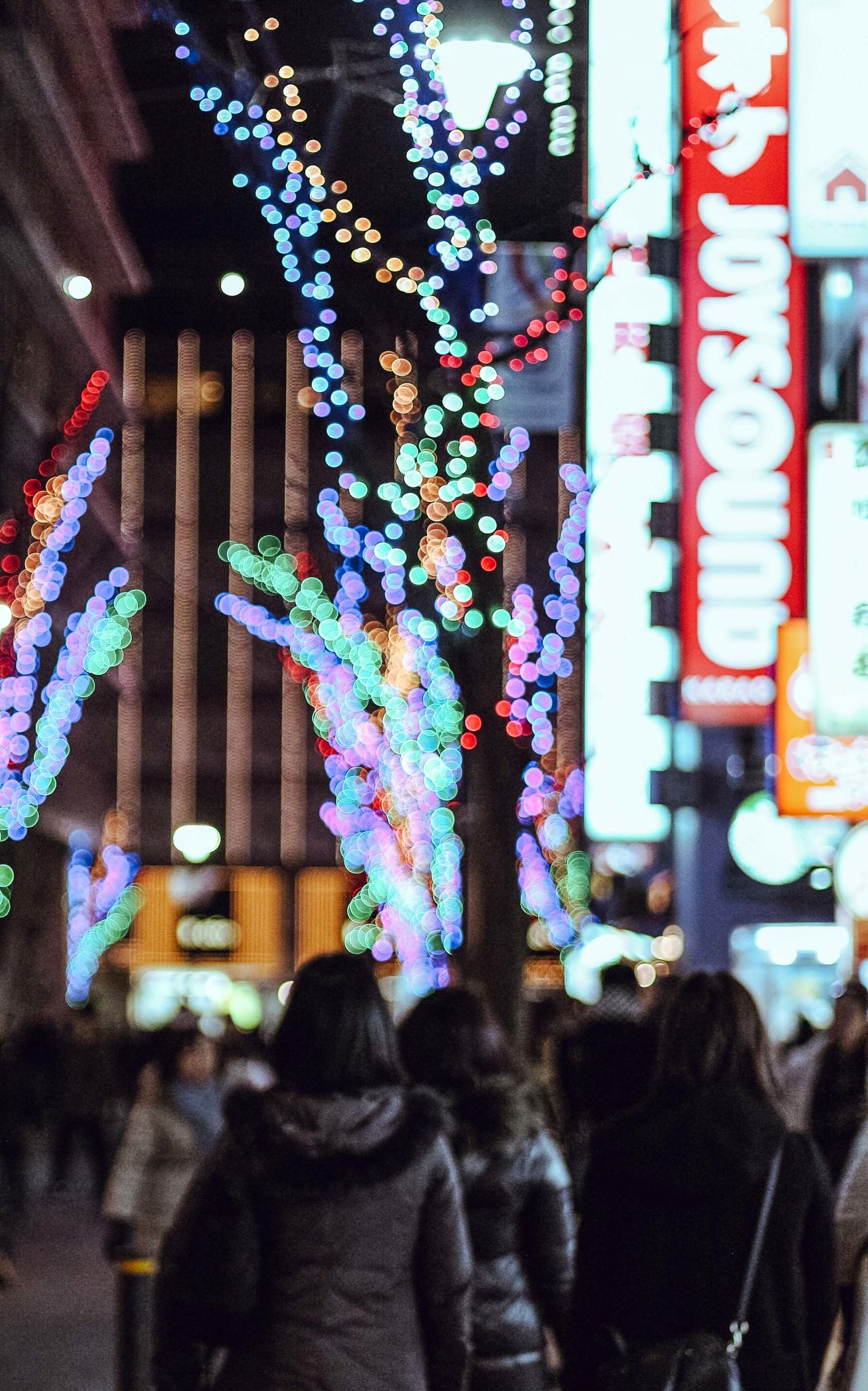 Shinjuku, always full with light Blue Bokeh Bokeh Photography City City Life Cold Temperature Evening Japan Light Lights Night Outdoors People Street Streetphotography Tokyo