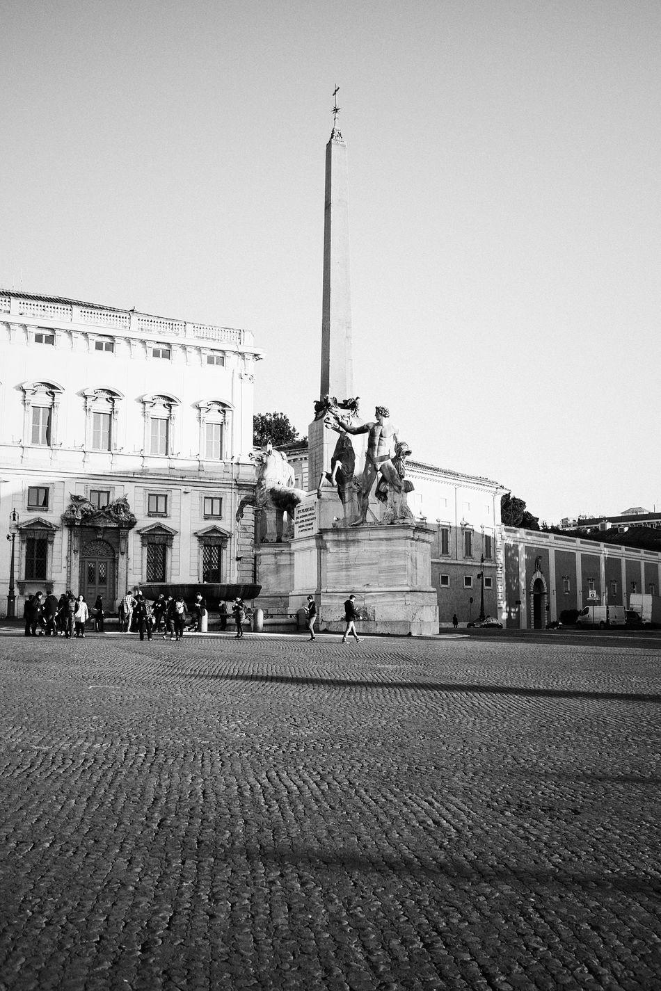 Quirinal fountain // Blackandwhite Monochrome_Monday Monochrome Black & White Vscocam VSCO Fuji X100s FUJIFILM X100S X100S Obelisk
