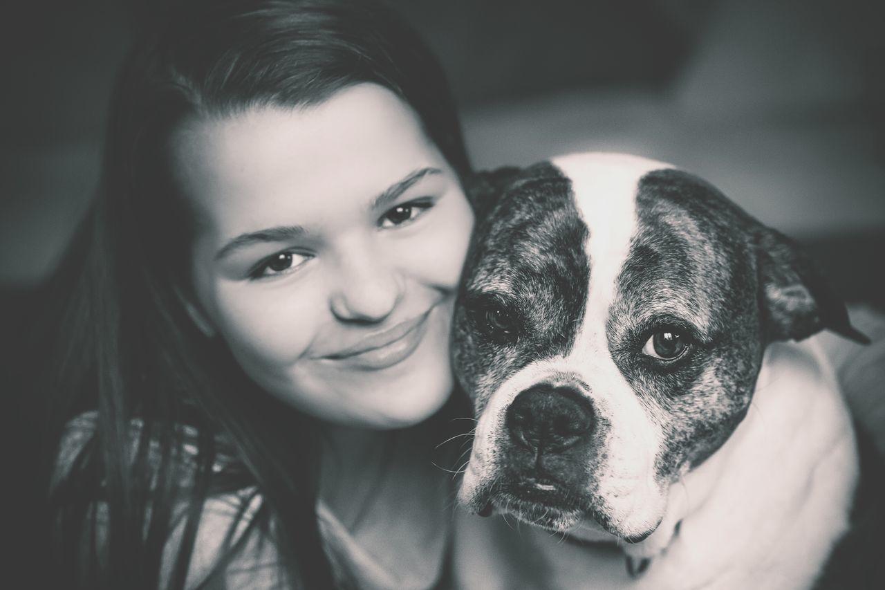 Portrait Portrait Of A Friend F1 Filter EyeEm Best Shots - People + Portrait Dog Love American Bulldog B&W Portrait Black And White Portrait Every Picture Tells A Story EyeEm Gallery