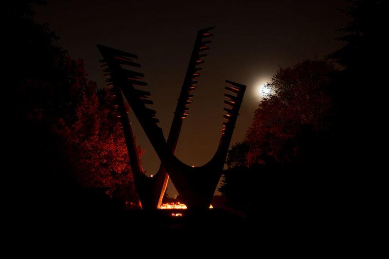 Graveyard Monument Moonlight Nightphotography Szczecin Night View Night City Colors Of The Night Moonlight ♥ Moon Light