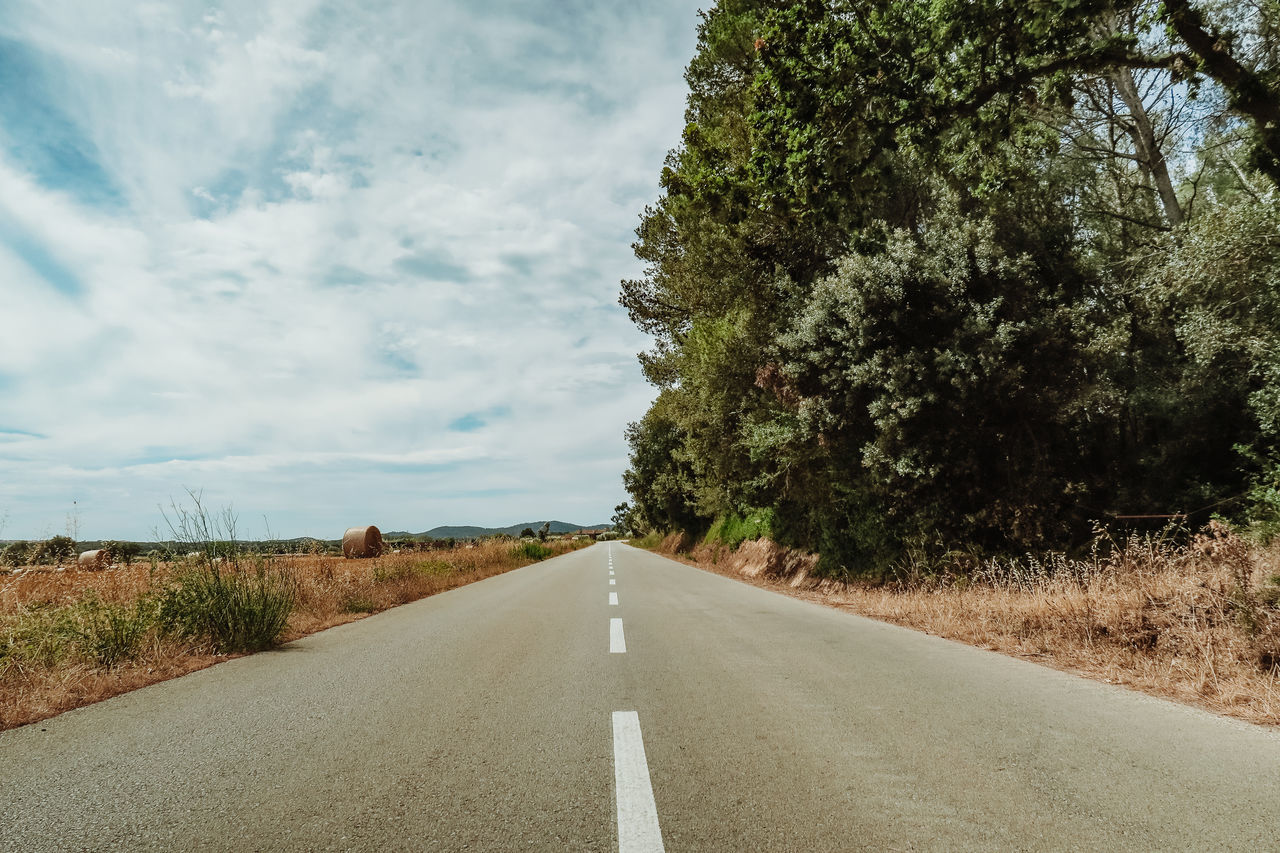 Asphalt Beauty In Nature Catalunya Day Diminishing Perspective Grass Green Color Growth Landscape Nature Nature No People Outdoors Road Scenics Sky The Way Forward Tranquil Scene Tranquility Transportation Tree