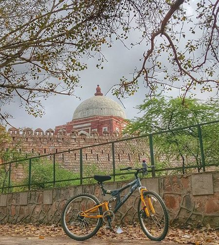 Morning workout or a heritage ride😊 Heritage Tuglakabadtomb Delhi Mughalarchitecture Soi HDR Incredibleindia Lonelyplanetindia Indiapictures IndiaTravelDiaries @millionshadesofindia @minibayindia @streets.of.india @stories.of.india Hdr_pics Monument Firefox Bicycle Picturesque Photosociety Thepixellar @awesome.photographers @photographers.of.india Tomb @desi_diaries @delhigram @streets.of.delhi @lbbdelhi @del