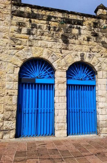 Closed Door Blue Built Structure Building Exterior No People
