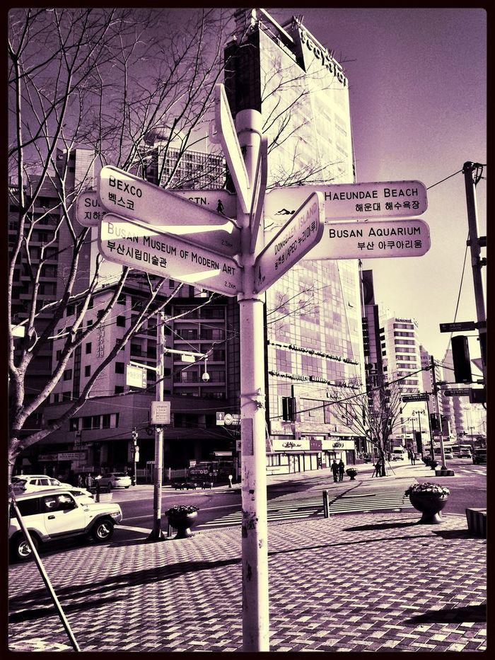 부산 Busan Travel Signpost