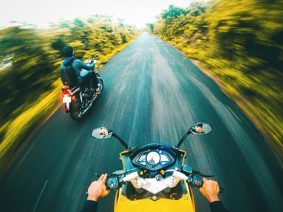 Breathing Space - a long ride out on the roads that lead to the Lush green rural outskirts, away from city lights. As I ride along, the fresh air soothes & calms my mind :D . Picture shot on the go pro hero5 Motorcycle Speed Blurred Motion Road Adventure Motion Mode Of Transport Transportation Headwear Riding Day Men Outdoors Helmet People Biker Adult Adults Only Only Men Gopro The Week On EyeEm EyeEmNewHere