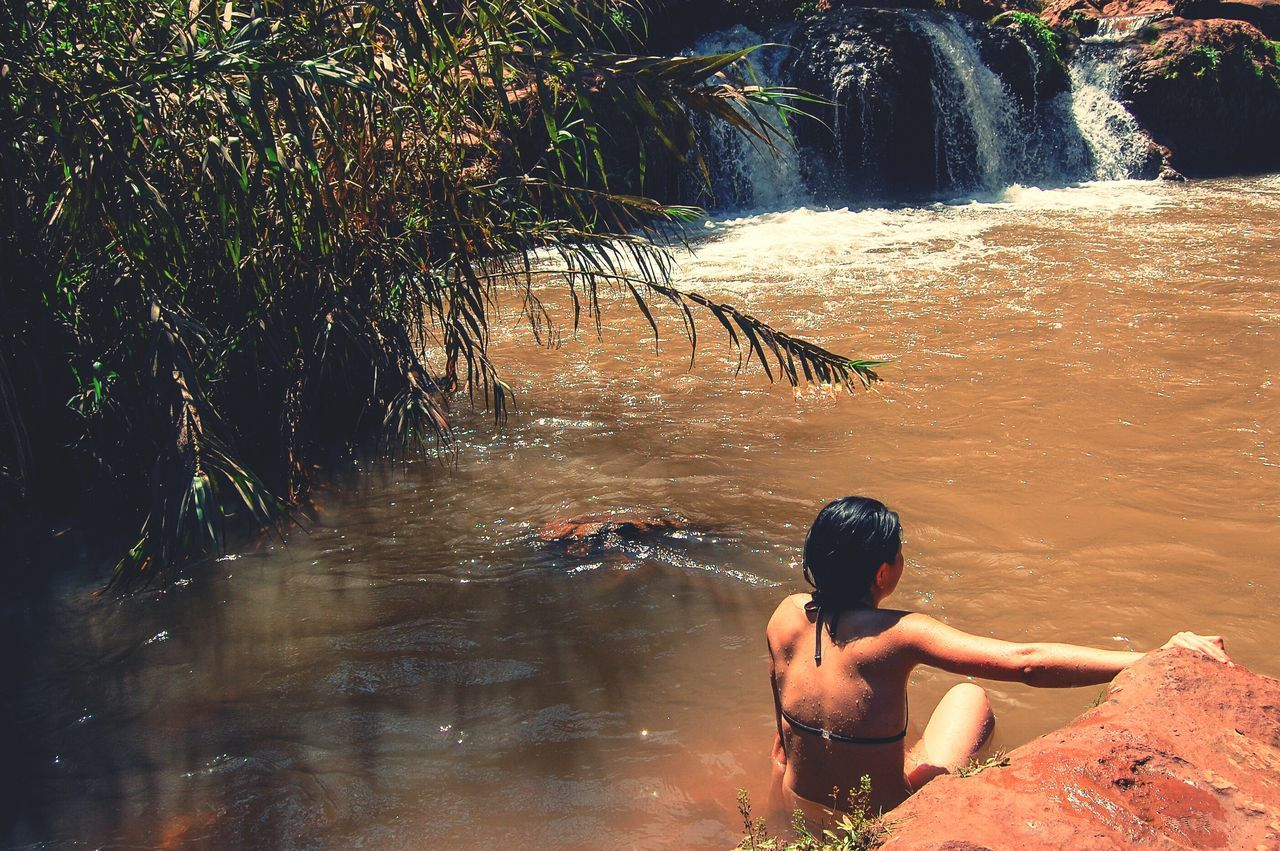 Enjoying the Ouzoud Falls Capturing Freedom Travel Ouzoud MoroccoTrip Morocco Cascade Ouzoud Swimming Adventure On The Road Protecting Where We Play Adventure Buddies The Tourist Telling Stories Differently Live For The Story