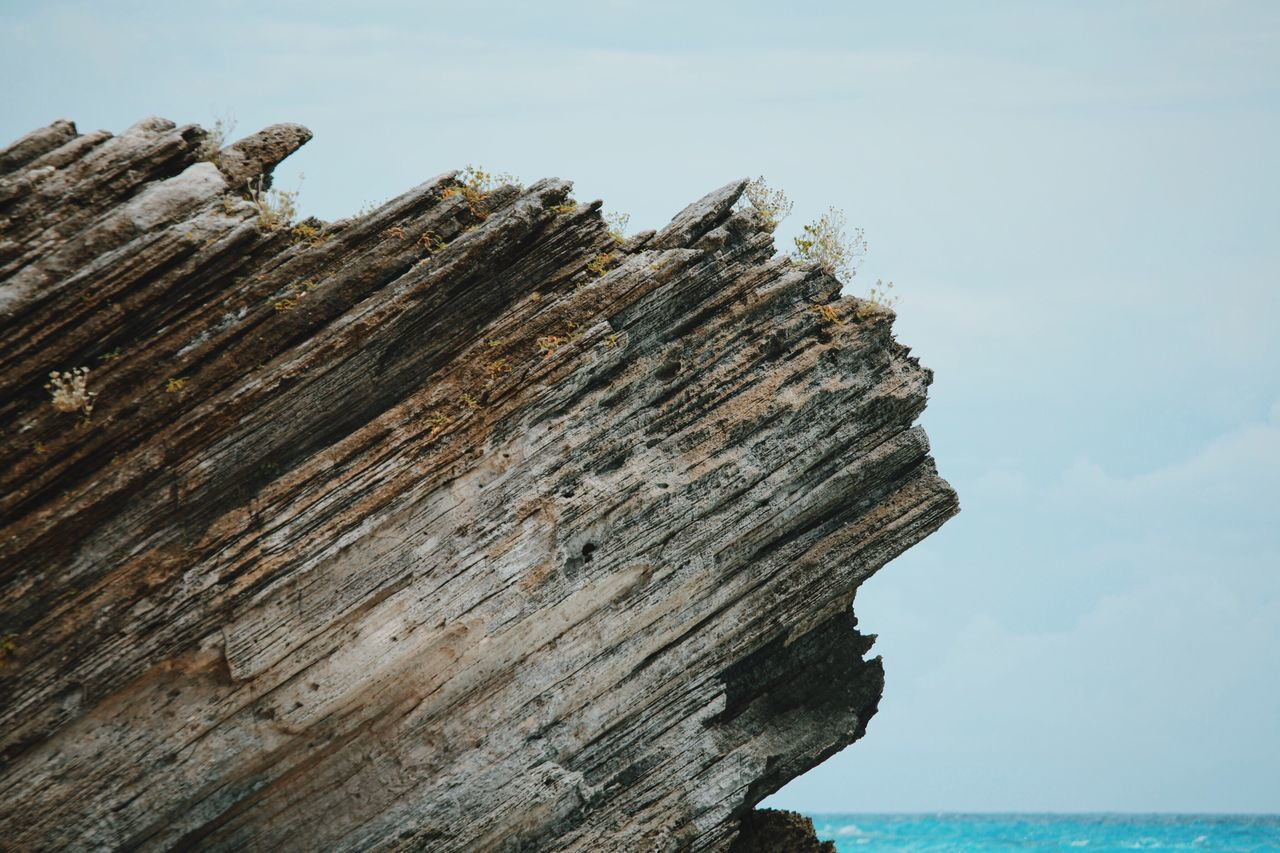 My Year My View Nature Outdoors Sea Water Sky Day Scenics Wood - Material Rock Formation Rocks And Water Beach Bermuda No People Open Edit Nature Rock - Object Landscape Vscocam VSCO