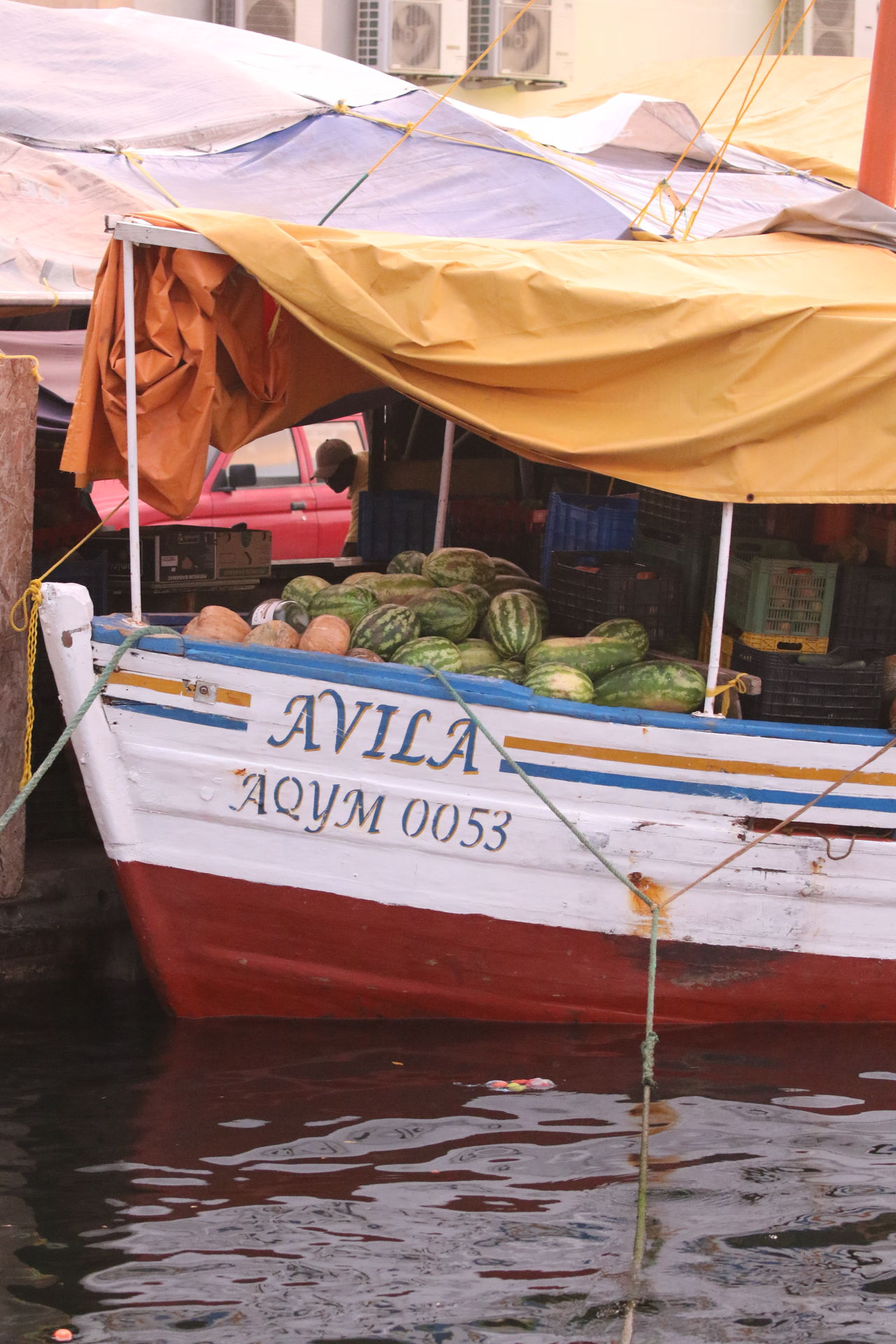Boat Caribbean Day Exotic Fruits Floating Market Harbour Nautical Vessel No People Outdoors Trader Water Waterfront