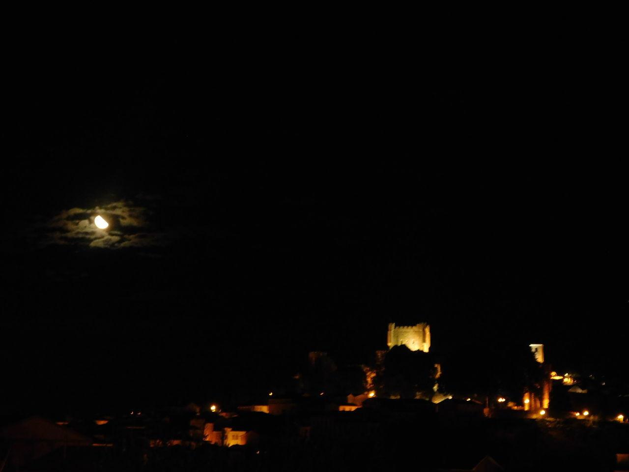 Bragança Bragançacastle Castle Castlesofportugal City Moonlight Night No People Sky Tranquility