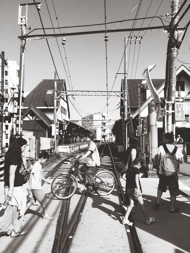 Enoshima Sta. Railway Railroad Railwaystation