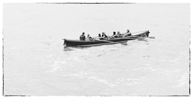 Gig training - I'm sure there's a metaphor in there somewhere Monochrome Blackandwhite Black And White Gig Oars Boat Sea Exercise Sea View Dorset,England Showcase: July Group Of People Teamwork Rowboat Rowing Boat