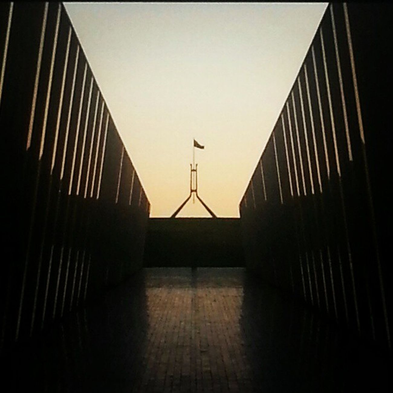 Parliment Parliamenthouse Commonwealthplace Commonwealth retro disco lights australia canberra flag australianflag burleygriffin dusk sunset reflection summer blueskies sky skyporn summerporn