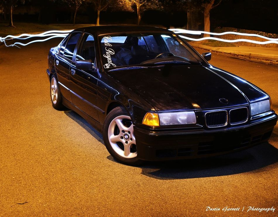 Playing with some Light Painting on Halloween @ Midnight with my Bmw #e36 :) #dustingarrettphotography