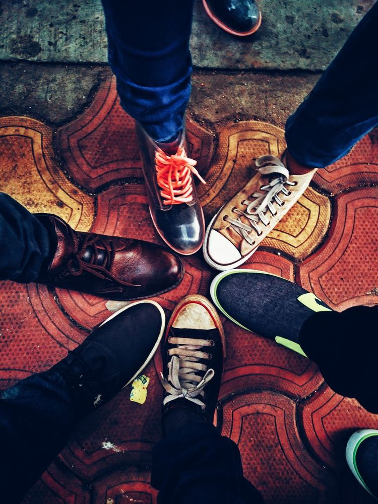 Friendship ❤ Shoe Fashion Real People Adult Standing Lifestyles Day Comparative Oldtime Nostalgic