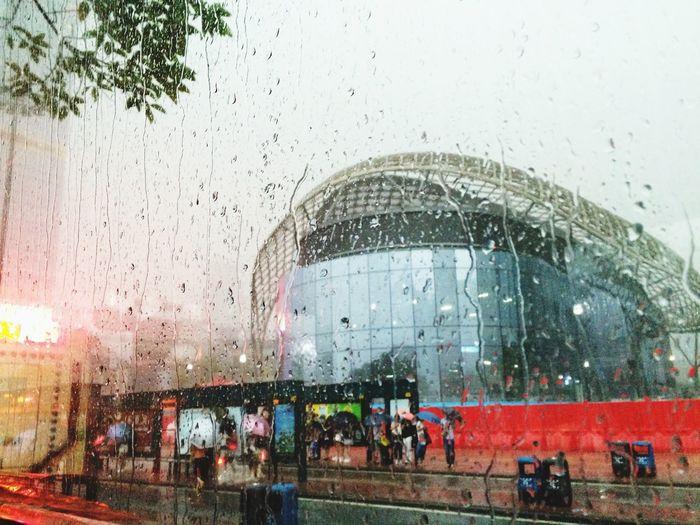 下雨天的體育中心