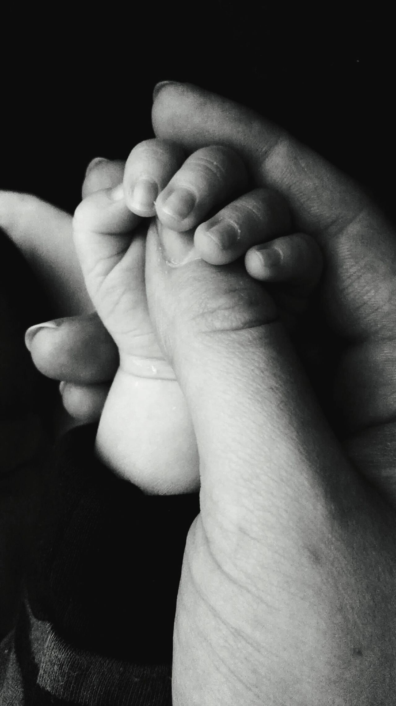 Human Hand Newborn Real People People Momandbaby Momandson Love Care Mom Son Focus On Foreground Beauty Black Indoors  Fingers Black & White Photography