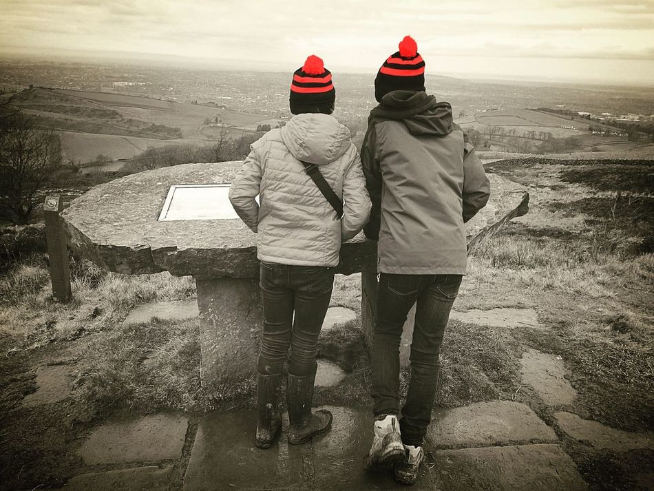 Two People Winter Togetherness Warm Clothing Cold Temperature Snow Outdoors Knit Hat Adventure Communication People Winter Walking Friendship Bonding View Siblings Brother And Sister